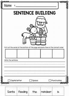 sentence building worksheets grade 3 21059 december sentence building sentence building kindergarten math activities kindergarten