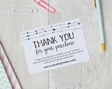 editable thank you card template thank you for buying etsy