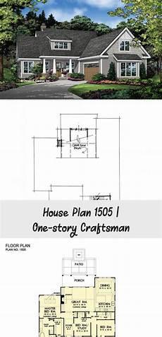 house plan 1505 one story craftsman don gardner house