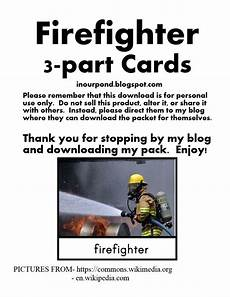 worksheets parts of the 19025 firefighter 3 part cards firefighter community helpers preschool free preschool