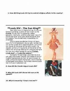 age of absolutism louis xiv 14th inquiry activity by specedsoc master