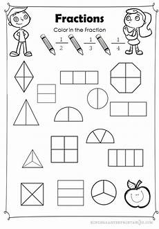 fraction worksheets beginner 3853 color the fractions