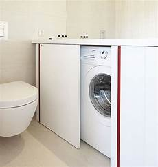 sotto lavandino bagno mobile bagno con lavatrice sotto piano nascosta da anta a