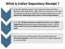 indian depository receipt idr