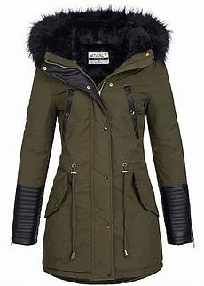 seventyseven lifestyle damen winter parka abnem fell