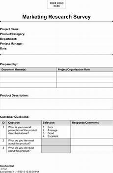 download marketing research template for free formtemplate