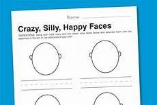 feelings worksheet silly faces to express emotions