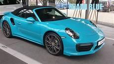 porsche cabrio porsche 911 turbo cabrio miami blue 991 2 2016