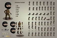 2d game terrorists character free sprites sheets craftpix net