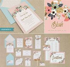diy printable wedding invitation bundle with 15 templates floral sprays and delicate colors