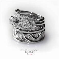 his hers infinity knot wedding rings includes etsy