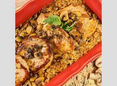 brown   wild rice mushroom casserole_image