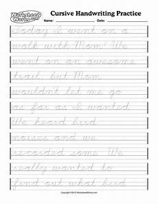 cursive writing sentences worksheets free 22145 the marigold home