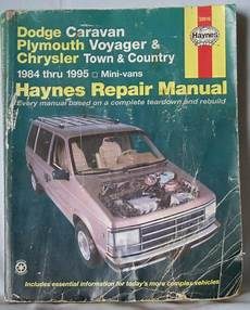 manual repair free 1995 chrysler town country auto manual haynes dodge caravan plymouth voyager chrysler town country 1984 1995 repair manual