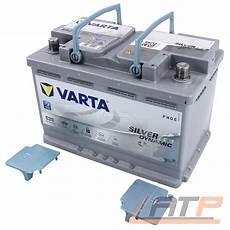 Varta Silver Dynamic 12v 70 Ah 760a Agm Auto Batterie 10g