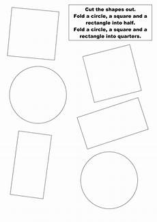 halving shapes worksheet eyfs 1106 cut out and fold shapes into halves and quarters by groov e chik teaching resources tes