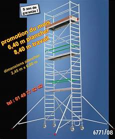 prix echafaudage au m2 les 233 chafaudages ref 6771 avec escalier et tous