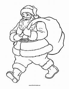 santa claus coloring page free printable