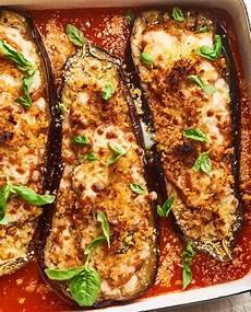 easy stuffed eggplant parmesan recipe kitchn