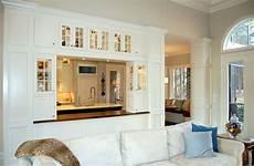 Open Divider Between Kitchen And Living Room Living Room