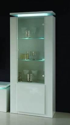 credenze moderne con vetrina vetrina moderna 1 anta con illuminazione finitura bianco