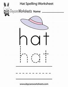 spelling puzzles worksheets 22523 learn and practice how to spell the word hat using this printable preschool worksheet