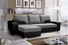 ecksofa sofa collin mit schlaffunktion schwarz hellgrau
