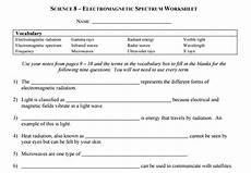 physical science electromagnetic spectrum worksheet 13191 science 8 electromagnetic spectrum worksheets answer key