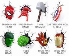marvel avengers 3d wall lights lighting and ceiling fans