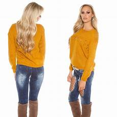 pull femme tendance couleur moutarde