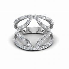 double band wedding rings double band open abstract diamond ring womens wedding rings in 18k white gold fascinating diamonds