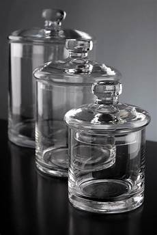 cheap kitchen canister sets set of 3 clear glass apothecary canister jars 5 quot 7 quot 9
