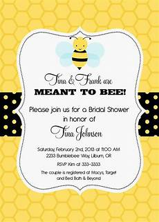 Bumble Bee Wedding Invitations bumblebee meant to bee bridal shower invitation by
