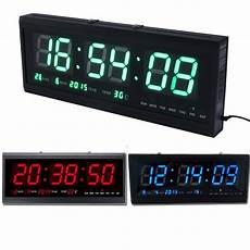 modern led digital square large 3d watch wall clock alarm