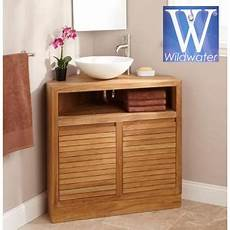 meuble de salle de bain en angle meuble d angle sous vasque en teck 85 cm cube