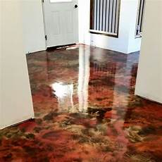 painted concrete floor i took black concrete paint and covered the concrete floor bought some