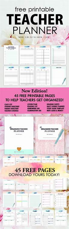 free printable teacher planner 45 school organizing