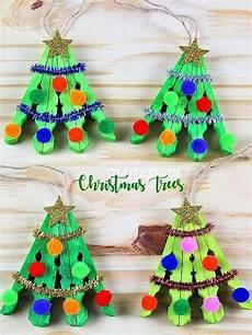 basteln weihnachten kinder clothespin tree craft crafts for