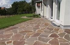 Polygonalplatten Porphyr Rot Braun Natursteine Garten