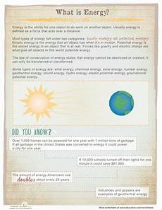 what is energy worksheet education com
