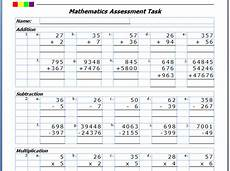 worksheets addition subtraction multiplication division 9999 editable addition subtraction multiplication division assessment teaching resources