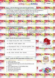 happy birthday worksheets esl 20219 happy birthday writing as a process interactive worksheet