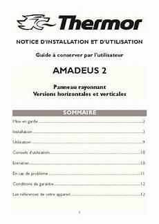 radiateur electrique thermor mode d emploi notice thermor amadeus 2 trouver une solution 224 un
