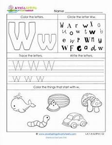 abc worksheets letter w alphabet worksheets a wellspring