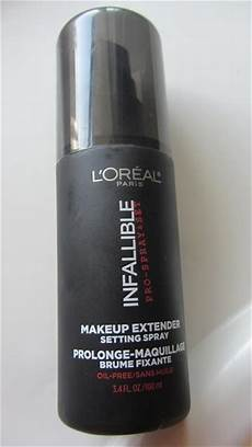 L Oreal Infallible Spray l oreal infallible makeup extender setting spray review