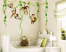 wandtatoo kinderzimmer wandtattoo babyzimmer affen dschungel safari no yk28