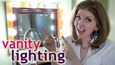 my vanity lighting how to apply makeup at night youtube