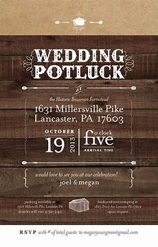Potluck Wedding Invitation we could customize our invitations to inform guests that