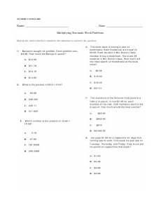multiplying decimals word problems worksheet with answer key download printable pdf templateroller
