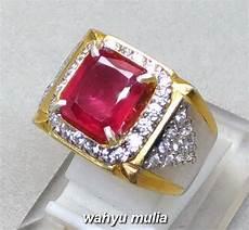 batu cincin permata ruby merah delima kotak asli kode 927 wahyu mulia
